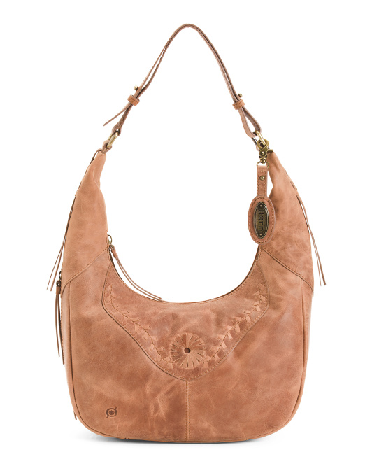 Distressed Leather Tanvi Hobo
