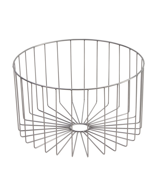 Small Round Metal Storage Basket