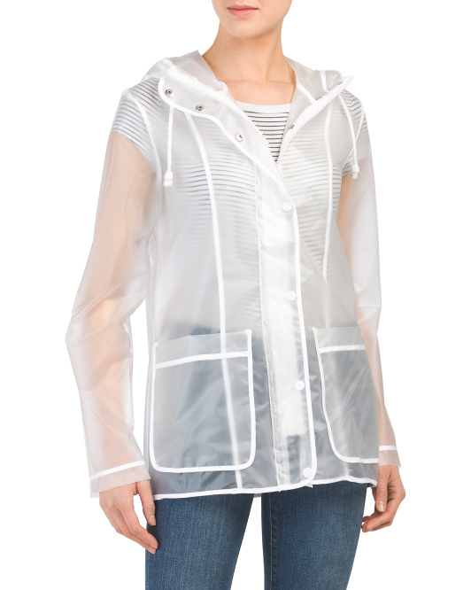 Juniors Clear Raincoat