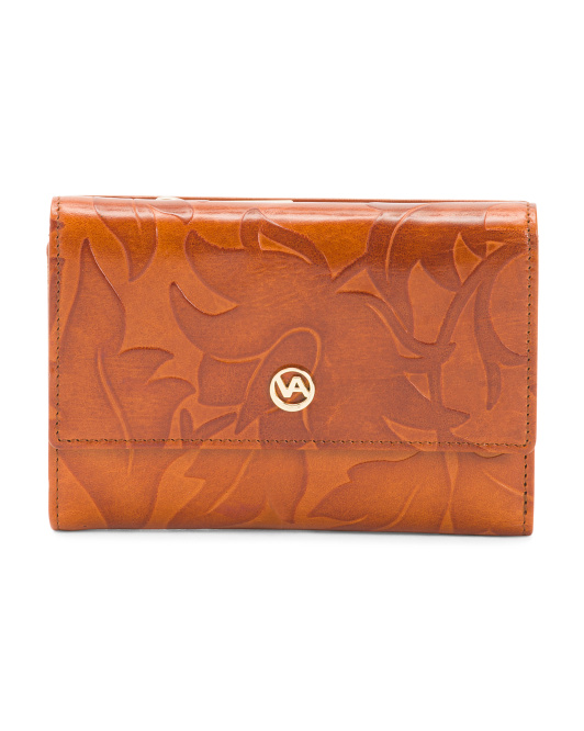 Made In Italy Tulip Leather Wallet