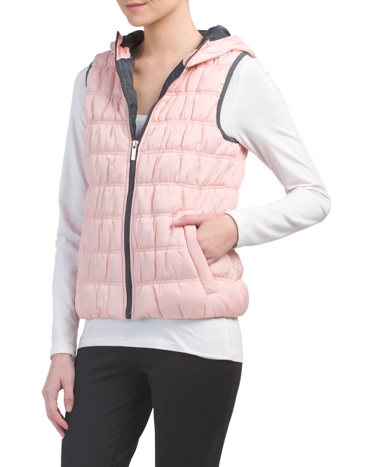 Puffer Vest With Hood