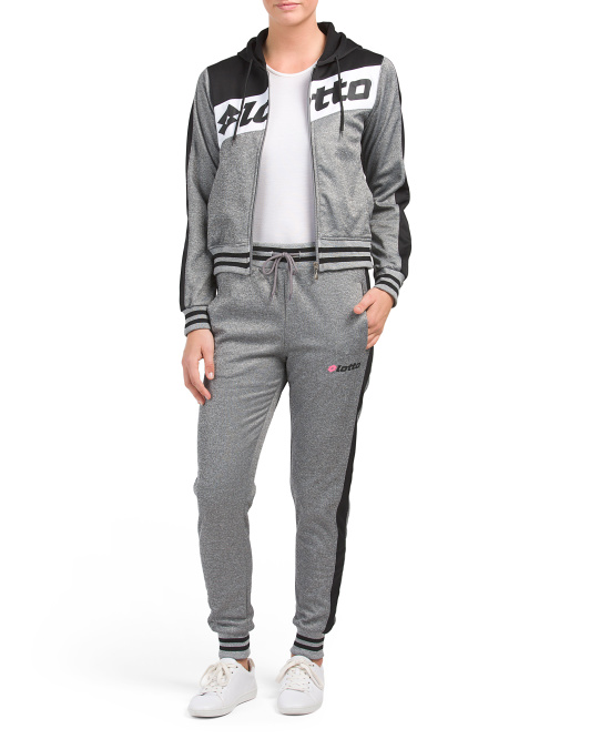 Hooded Side Stripe Track Suit