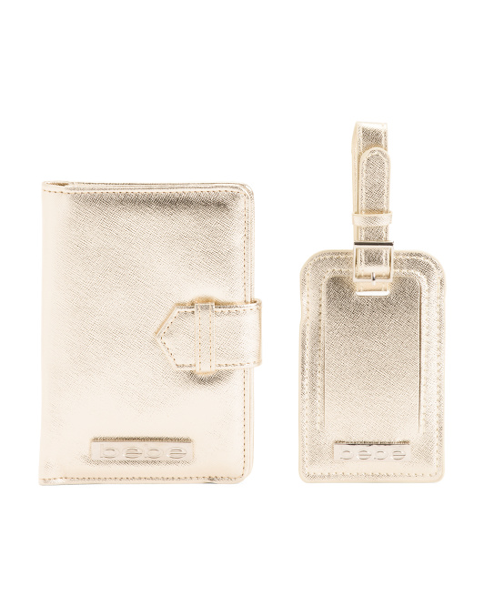 Passport And Luggage Tag Travel Set