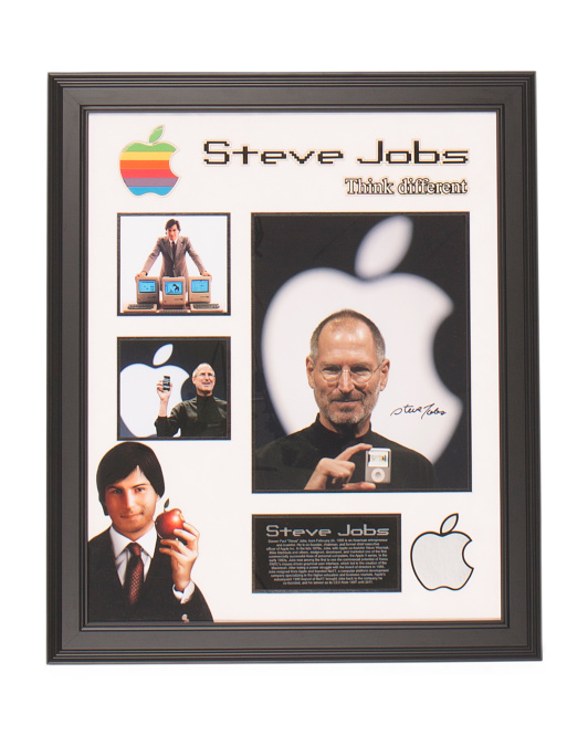 Steve Jobs Signed Collage