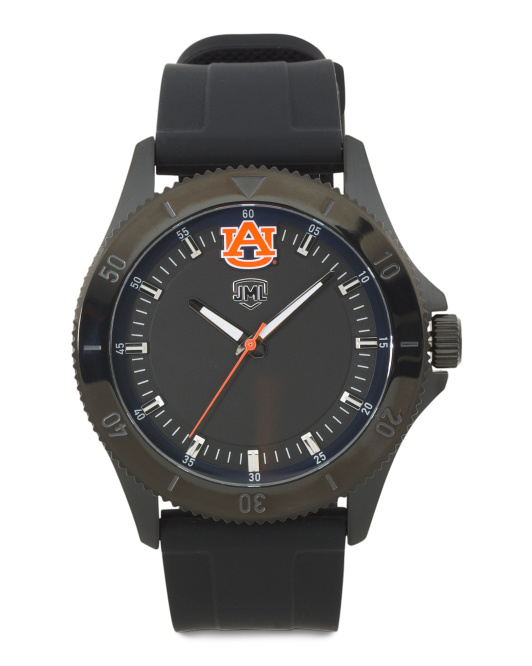 Men's Auburn Tigers Blackout Silicone Strap Watch