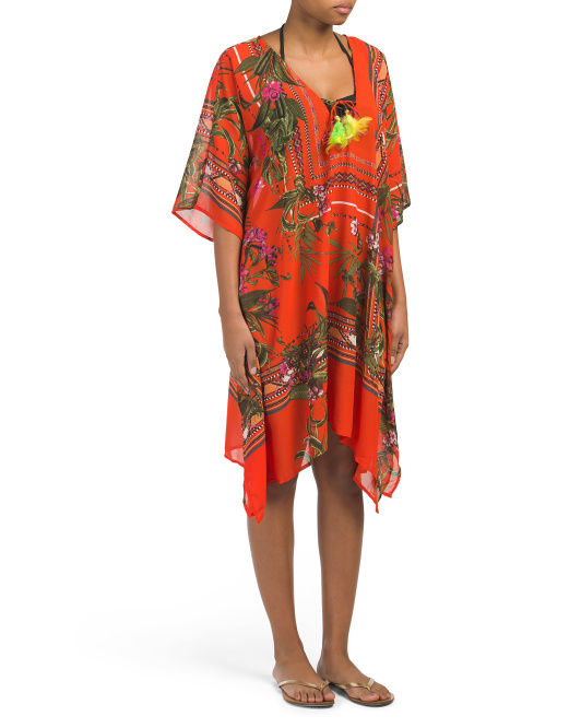Tropical Printed Cover-up Caftan