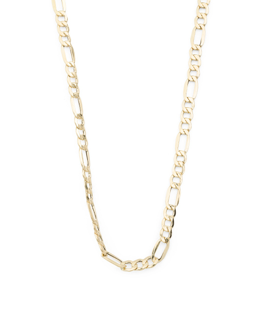 Made In Italy 14k Gold Figaro Necklace