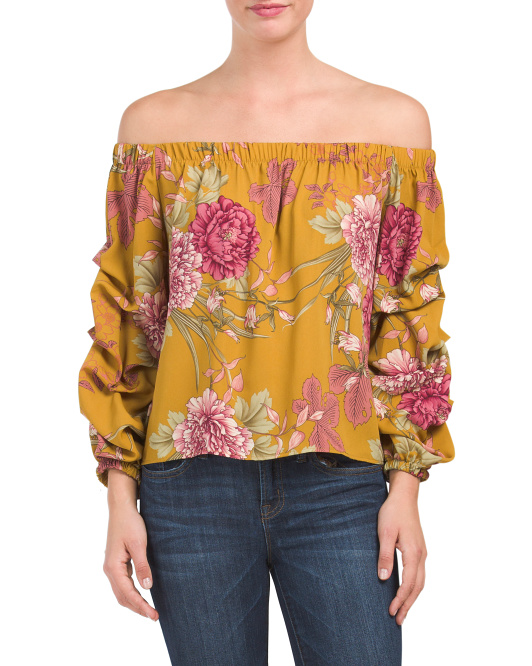 Juniors Made In USA Floral Top