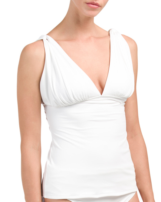 Draped Tankini Top