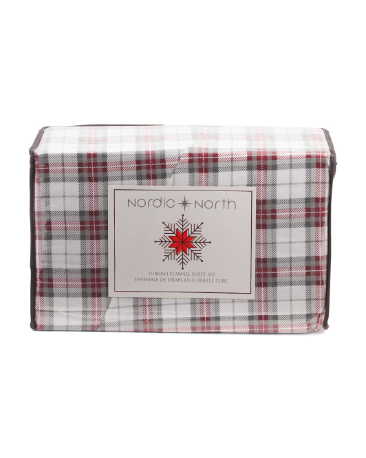 Made In Turkey Plaid Sheet Set