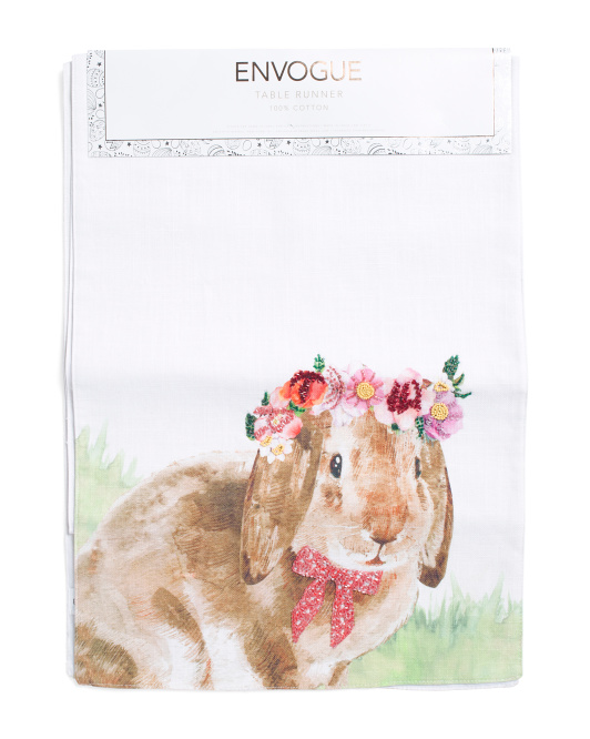 Made In India 16x80 Flower Bunny Runner