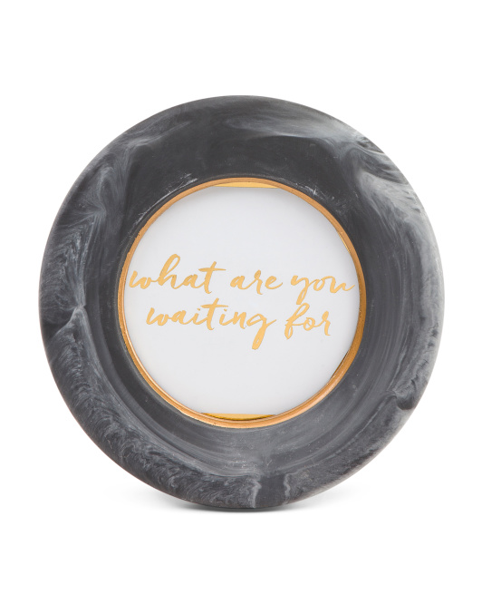 4x4  Round Faux Marble Frame