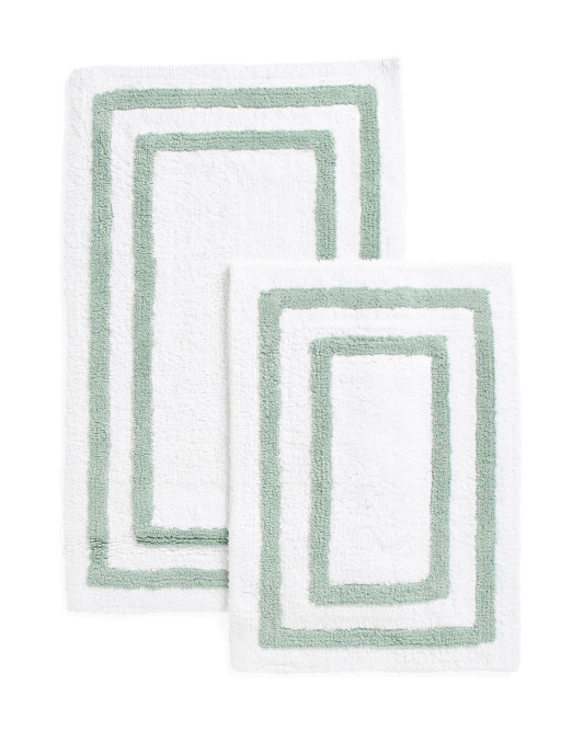 Made In India Set Of 2 Bath Mats