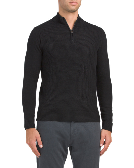 Micro Quarter Zip Sweater