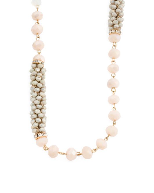 Faceted Bead Long Necklace