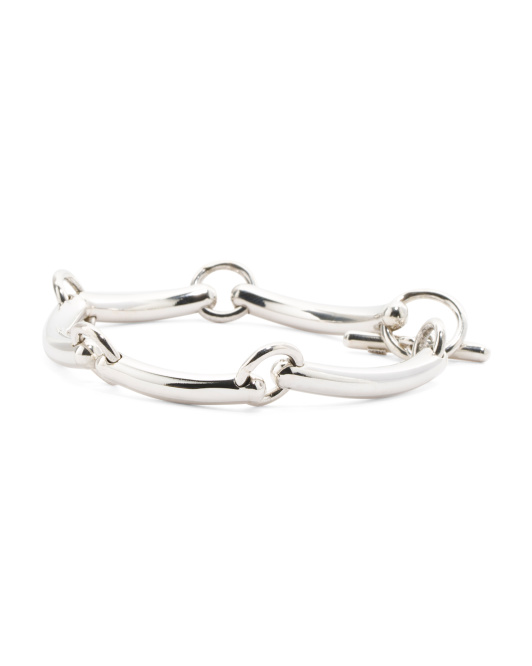 Handmade In Mexico Sterling Silver Noodle Bracelet
