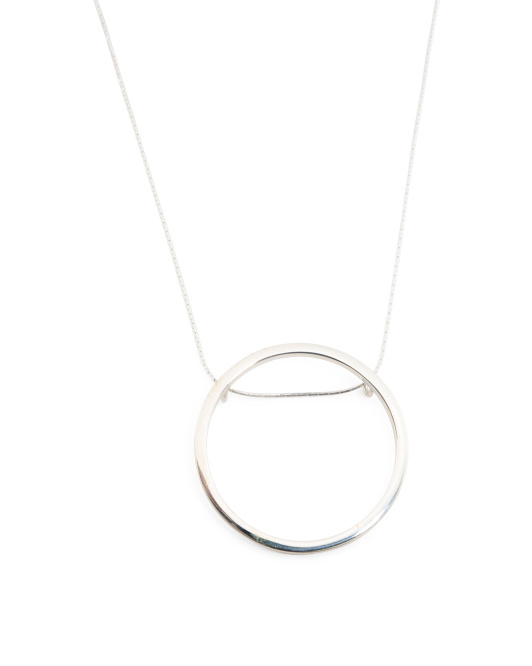 Handmade In Mexico Sterling Silver Hula Hoop Necklace