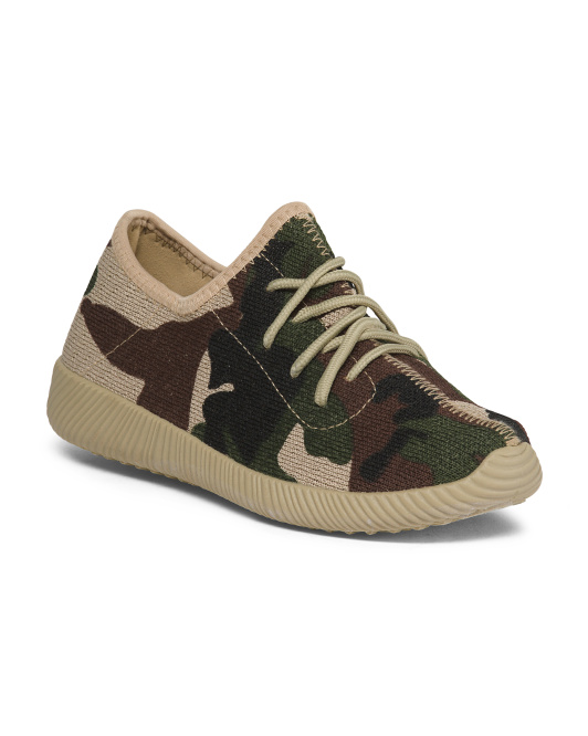 Camo Knit Sneakers