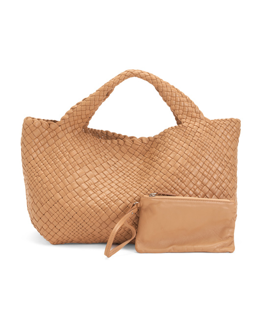 Made In Italy Handwoven Leather Tote