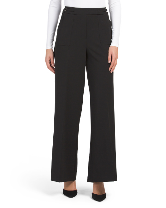 Scuba Crepe Wide Leg Pants