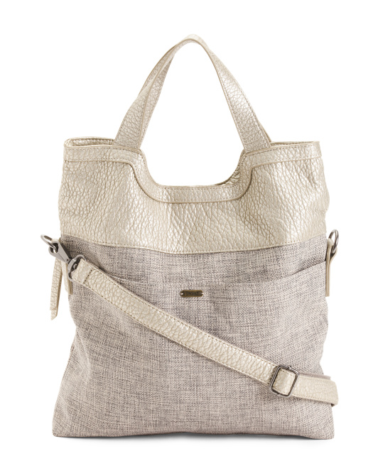 Cross Body Fold Over Tote
