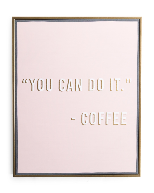 16x20 You Can Do It Canvas Wall Art