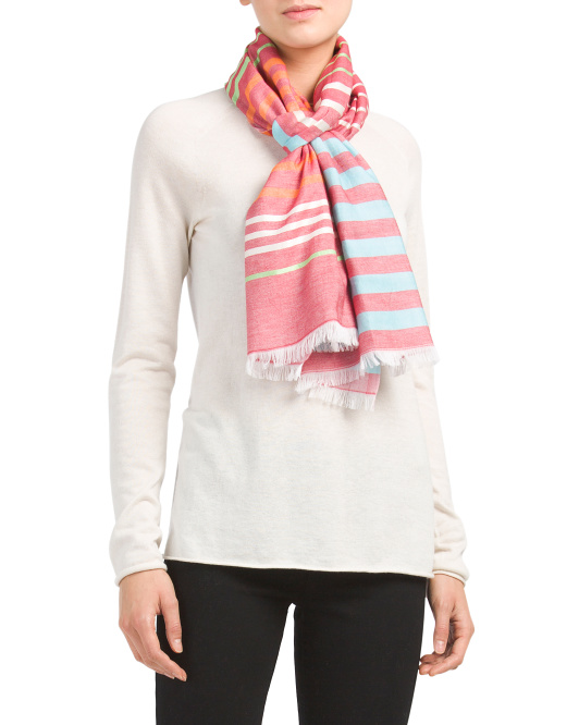 Soft Striped Scarf