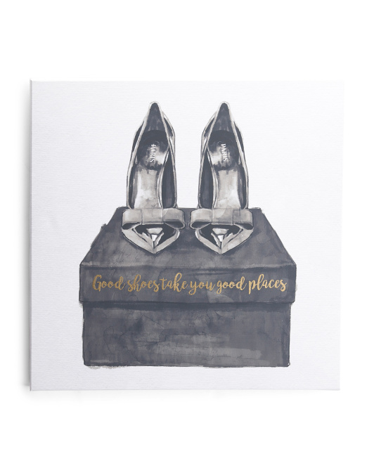 20x20 Good Shoes Canvas Wall Art