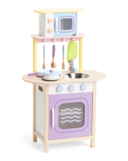 Play Kitchen With Microwave