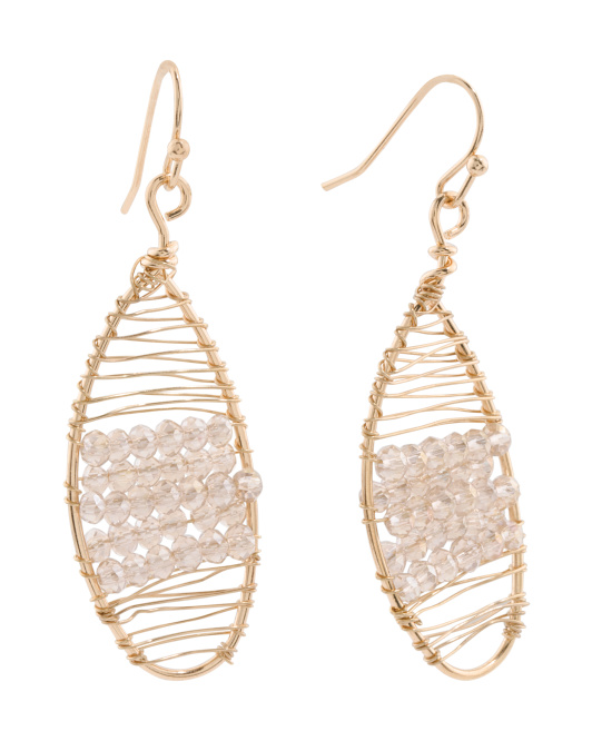 Crystal Embellished Wrapped Statement Earrings