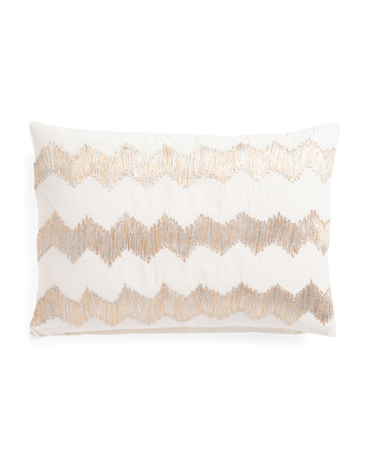 Made In India 14x20 Chevron Pillow