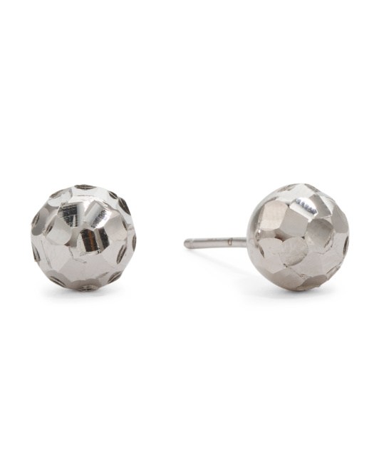 Made In Italy Ball Stud Earrings
