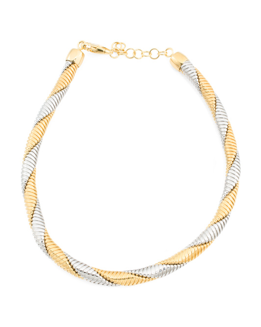 Made In Italy Twisted Tubogas Necklace