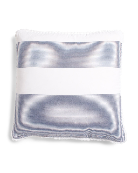Cabana Pinstriped Pillow