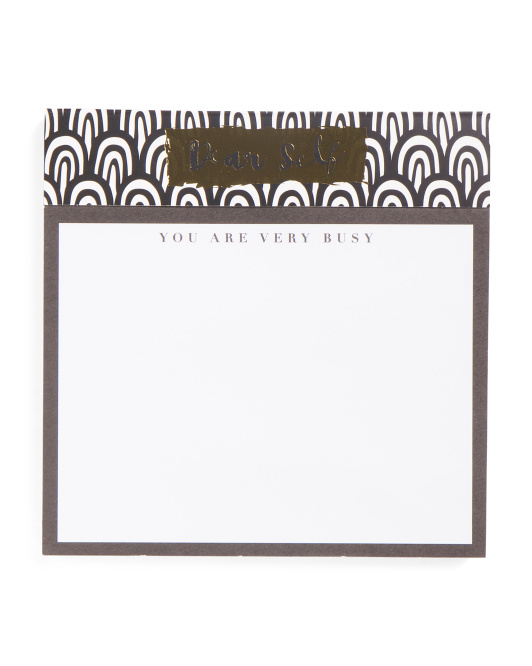Dear Self Large Square Notepad
