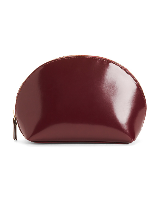 Made In Italy Patent Leather Cosmetic Case
