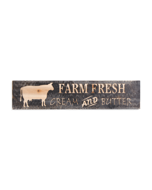 Wooden Farm Fresh Sign