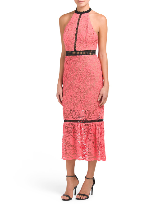 Made In USA Lace Midi Dress