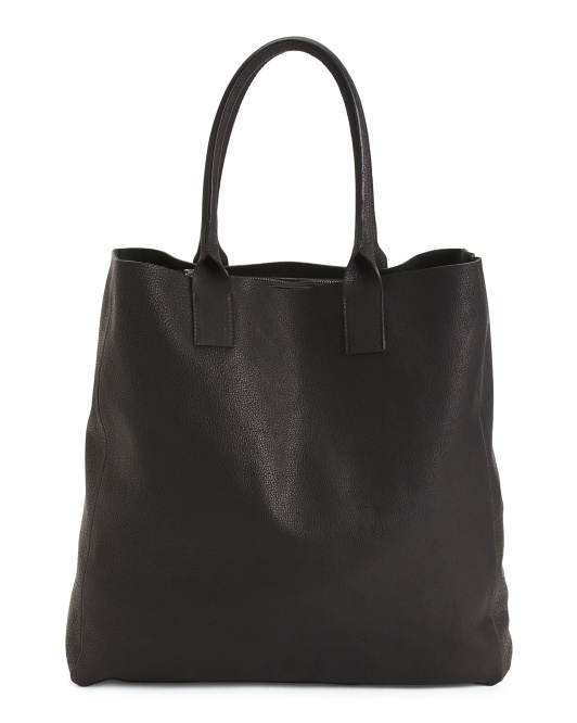 Made In Italy Oversize Leather Tote