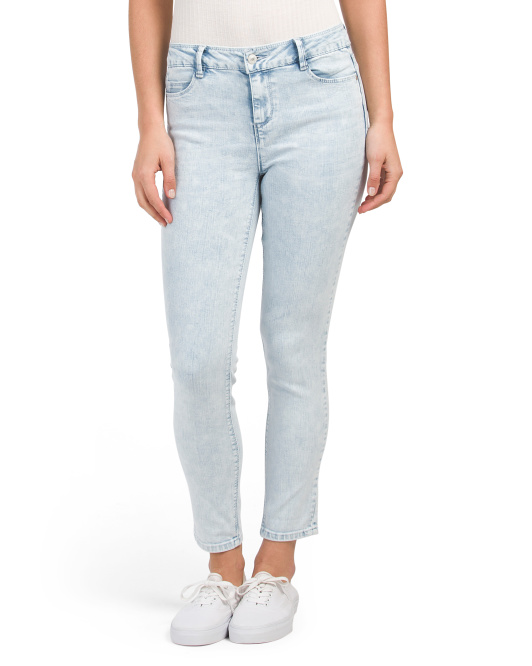 High Waist Acid Wash Skinny Jeans