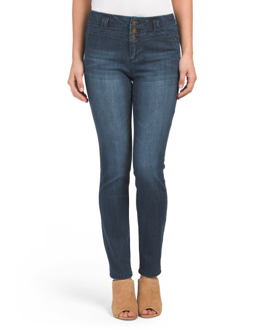 Stacked High Waist Skinny Jeans