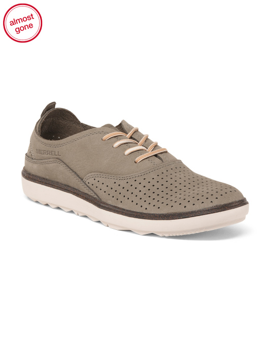 Casual Leather Oxford Sneakers