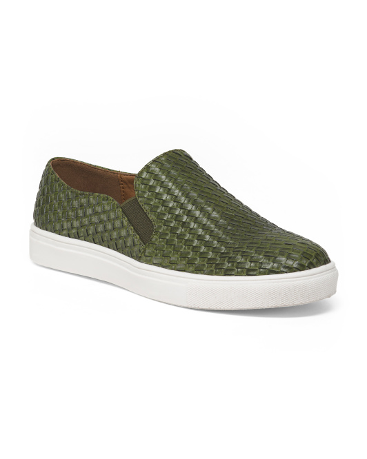 Woven Slip On Fashion Sneakers