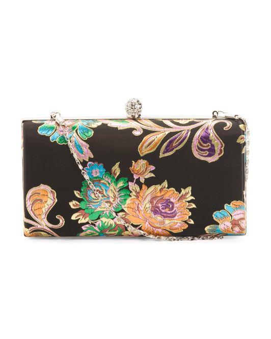 Black Floral Evening Bag