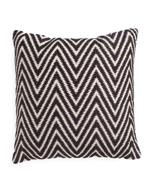 Made In India 20x20 Textured Chevron Pillow