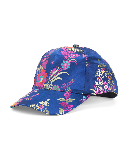 Floral Brocade Baseball Hat