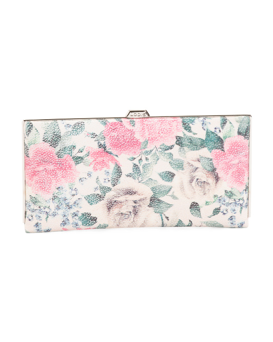 Rose Floral Quinn Leather Wallet