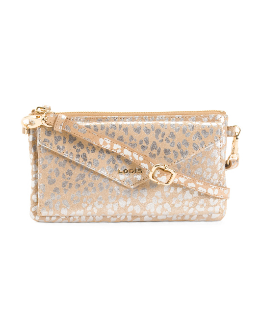 Snap Front Leather Wristlet