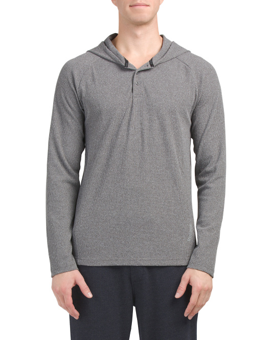 Thermal Henley With Hood