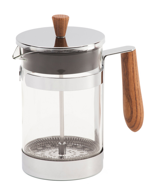 Six Cup Stainless Steel Coffee Press
